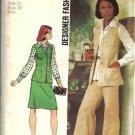 Simplicity 5812 Simplicity Vest, Skirt, Pants Sewing Pattern Size 14