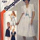 Simplicity 5892 Misses Sundress, Jacket Vintage Sewing Pattern Size 14
