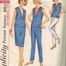 Simplicity 5896 Misses 60s Top, Skirt, Slacks Sewing Pattern Size 11