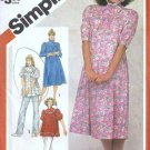 Misses 80s Maternity Dress, Top Sewing Pattern Simplicity 5903 Size 12