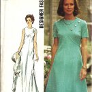 Simplicity 5911 Misses Designer Dress 70s Sewing Pattern Size 14