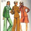 Misses Shirt, Pantskirt, Pants Sewing Pattern Size 12 Simplicity 5931