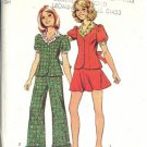 Girls 70s Top, Skirt, Pants Sewing Pattern Simplicity 5943 Size 10
