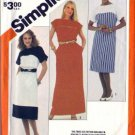 Simplicity 6024 Misses 80s Pullover Dress Sewing Pattern Size 10, 12