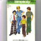 Boys 70 Shirt, Pants, Jeans Sewing Pattern Size 4 Simplicity 6058