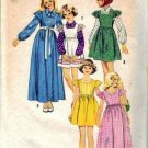 Girls Dress Jumper Blouse 70s Sewing Pattern Size 8 Simplicity 6190