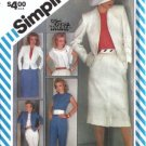 Simplicity 6272 Misses Jacket, Top, Skirt, Pants Sewing Pattern Sz 10