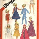 Simplicity 6363 Barbie Doll Clothes Vintage Sewing Pattern Bride, Cape