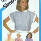 Simplicity 6410 Misses Tucked Shirt Vintage Sewing Pattern Size 10