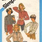 Misses 80s Blouse Vintage Sewing Pattern Size 16 Simplicity 6440