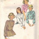 Misses 70s Blouse, Scarf Sewing Pattern Simplicity 6625 Size 10