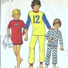Simplicity 6692 Boys Knit Pajamas Vintage Sewing Pattern Size 10, 12