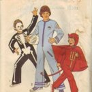 Simplicity 6696 Boys Devil Skeleton Astronaut Costume Pattern Size 10, 12