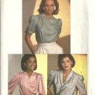 Simplicity 6706 Misses 80s Blouse Vintage Sewing Pattern Size 10 Uncut