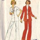 Simplicity 6790 Misses 70s Shirt Jacket, Pants Sewing Pattern Size 16