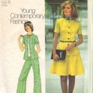 Simplicity 6791 Misses 70s Top, Skirt, Pants Sewing Pattern Size 12