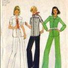 Simplicity 6875 Misses Retro Shirt Jacket, Pants Sewing Pattern Size 12