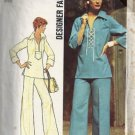 Simplicity 6895 Misses 70s Laced Top, Pants Sewing Pattern Size 8