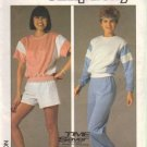 Simplicity 6906 Misses Sweat Shirt, Pants, Shorts Sewing Pattern Med