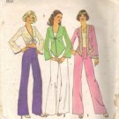 Simplicity 6971 Misses 70s Top, Shirt, Pants Sewing Pattern Size 12