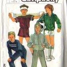 Simplicity 7020 Boys Jacket Top Pants Shorts Sewing Pattern 7, 8, 10
