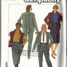 Misses Jacket, Vest, Skirt, Pants Sewing Pattern Sz 16 Simplicity 7043