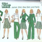 Simplicity 7070 Misses Jacket, Shirt Skirt 70s Sewing Pattern Size 12