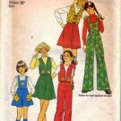 Simplicity 7109 Girls Skirt, Pants, Bib, Vest Sewing Pattern Size 7