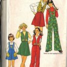 Simplicity 7109 Girls Skirt, Pants, Bib, Vest Sewing Pattern Size 12