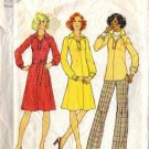 Simplicity 7136 Misses 70s Dress, Top, Pants Sewing Pattern Size 12