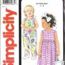 Simplicity 7144 Girls Romper Dress Sewing Pattern Size 1/2, 1, 2, 3, 4