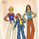 Simplicity 7201 Girls 70s Tank Top, Shirt, Pants Sewing Pattern Size 7
