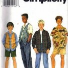Simplicity 7224 Boys Shirt, Vest, Pants Sewing Pattern Sz 7, 8, 10