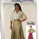 Simplicity 7268 Misses Flared, Pleated Skirt Sewing Pattern Size 16