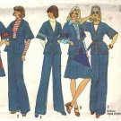 Simplicity 7271 Misses 70s Jacket, Skirt, Pants Sewing Pattern Size 10