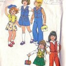 Simplicity 7321 Girls 70s Vest, Skirt, Pants Sewing Pattern Size 4