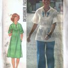 Misses Dress Top Pants Vintage Sewing Pattern Simplicity 7430 Size 14