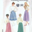Simplicity 7435 Misses Skirt Vintage Sewing Pattern Size 10