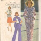 Simplicity 7473 Misses 70s Shirt, Pants, Skirt Sewing Pattern Size 10