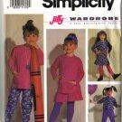 Simplicity 7481 Girls Top Tunic Skirt Pants Sewing Pattern Sz 3, 4, 5