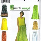 Simplicity 7513 Sewing Pattern Misses Easy Skirt, Pants Size XS, S, M