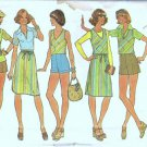 Simplicity 7529 Misses Top, Vest, Skirt, Shorts 70s Sewing Pattern Sz 12