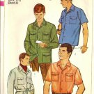 Simplicity 7182 Mans Shirt, Shirt-Jacket Vtg Sewing Pattern Chest 40