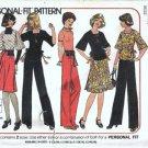 Simplicity 7586 Misses Wrap Skirt Top Pants Bag Vtg Pattern Sz 12 14