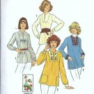 Simplicity 7627 Misses Tops 70s Vintage Sewing Pattern Size 8, 10