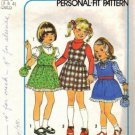 Girls 70s Jumper, Blouse, Bag Sewing Pattern Size 3, 4 Simplicity 7633