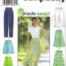 Simplicity 7655 Misses Pants, Shorts, Skirt Sewing Pattern Size L, XL