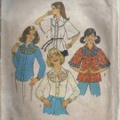 Simplicity 7678 Girls Blouse Shirt 70s Sewing Pattern Size 11 12