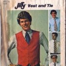 Mens 70s Vest, Tie Vintage Sewing Pattern Simplicity 7701 Chest 36