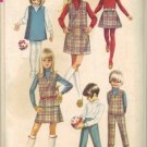 Simplicity 7785 Girls 60s Jumper, Skirt, Pants Sewing Pattern Size 12